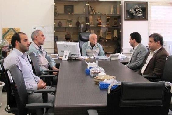 بازدید نمایندۀ مردم شهرستان بروجن در مجلس شورای اسلامی از شرکت ورق خودرو