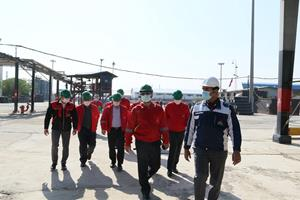 بازدید هیئت سازمان بازرسی کل کشور از  کارخانه تهران نفت پاسارگاد