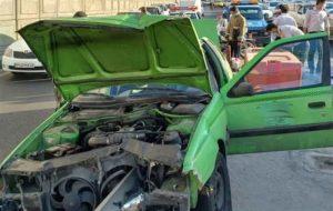(ورود گاردیل به داخل اتاقک پژو در بزرگراه امام علی!/ زنده ماندن معجزهآسای راننده
