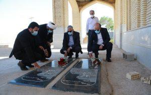 حضور مدیر عامل شرکت نفت ایرانول و هیات همراه در یادمان شهدای غواص